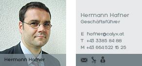 Hermann Hafner kontaktieren!